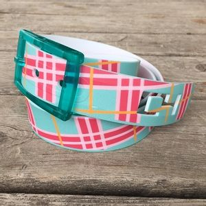 C4 Mint Plaid Belt