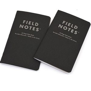 Field Notes Pitch Black Ruled Large  Note  Book - 2-pack