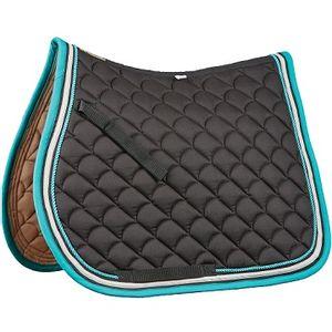 Roma Crescent A/P Saddle Pad - Black/Grey/Turquoise