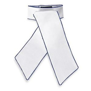 RJ Classics Women's Camden Pre-Tied Stock Tie - White/Navy