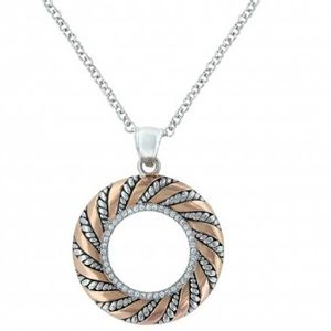 Montana Silversmiths Twisted Wreath of Burnished Ribbon Necklace