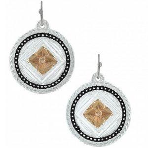 Montana Silversmiths Framed/Pictured Wild Prairie Rose Earrings