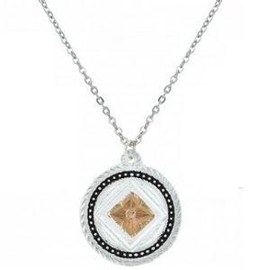 Montanna Silversmiths Wild Prairie Rose Cameo Necklace