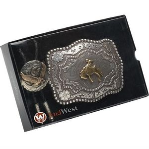 Bolo Tie and Buckle Set - Bronc