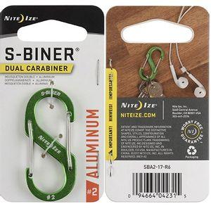 Nite Ize S-Biner Dual Carabiner Aluminum #2 - Lime