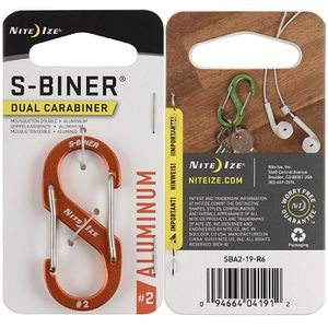 Nite Ize S-Biner Dual Carabiner Aluminum #2 - Orange