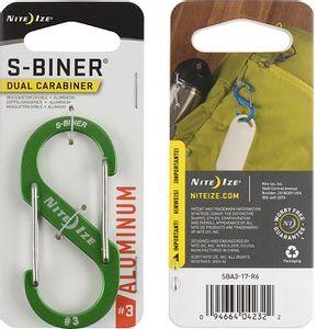 Nite Ize S-Biner Dual Carabiner Aluminum #3 - Lime