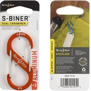 Nite Ize S-Biner Dual Carabiner Aluminum #3 - Orange