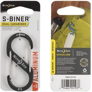 Nite Ize S-Biner Dual Carabiner Aluminum #3 - Charcoal