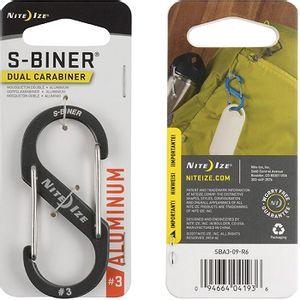 Nite Ize Sidelock Aluminum S-Biner #3 - Charcoal