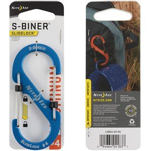 Nite Ize Slidelock Aluminum S-Biner#4 - Blue