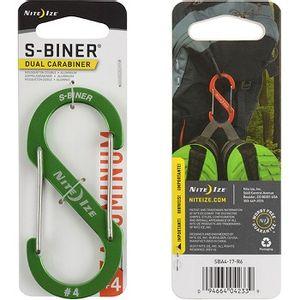 Nite Ize Slidelock Aluminum S-Biner #4 - Lime