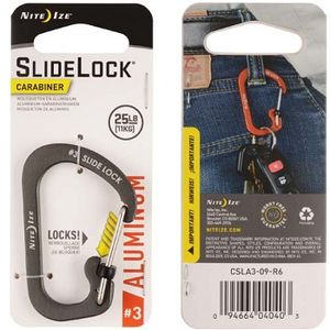 Nite Ize Slidelock Aluminum Carabiner #3 - Charcoal