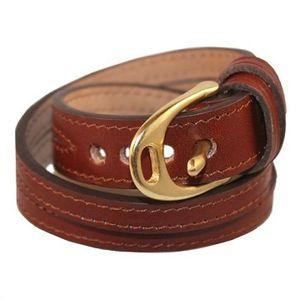 Noble Outfitters Stirrup Wrap Bracelet - Oak/Brass
