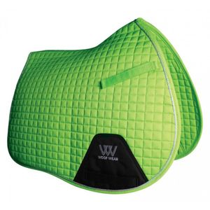 Woof Wear Colour Fusion A/P Saddle Pad - Lime Green
