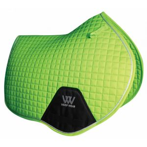 Woof Wear Colour Fusion C/C Saddle Pad - Lime Green