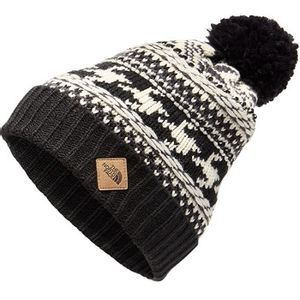 The North Face Unisex Fair Isle Beanie - Weathered Black/Vintage White Multi