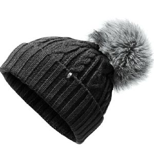 The North Face Women's Oh-Mega Fur Pom Beanie - Black