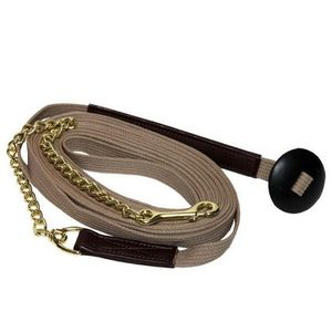 Cotton Web Lunge Line with Chain