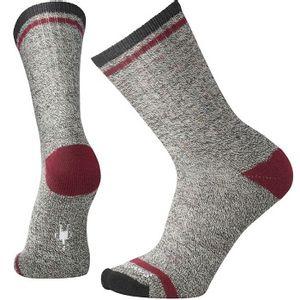 Smartwool Men's Larimer Crew Socks - Charcoal Heather/Tibetan Red Heather