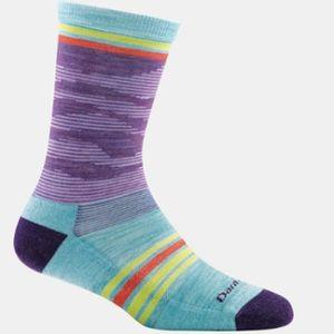 Darn Tough Women's Waves Crew Socks - Purple