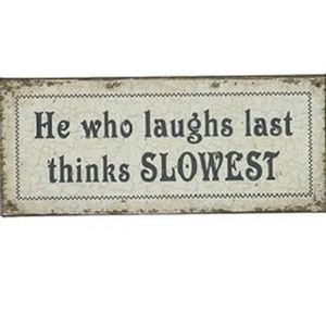 Upper Deck Laugh Last Sign