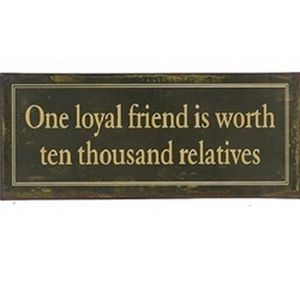 Upper Deck Loyal Friend's Sign