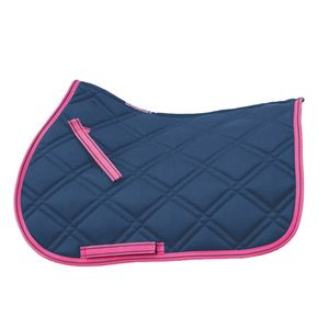 Loveson A/P Saddle Pad - Navy/Pink