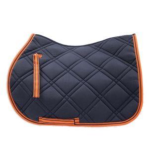 Loveson A/P Saddle Pad - Navy/Orange