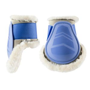 Horze Caliber Fetlock Boots with Pile Lining - Powder Blue