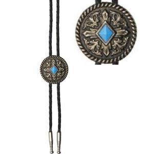 Bolo Tie - Brass Turquoise