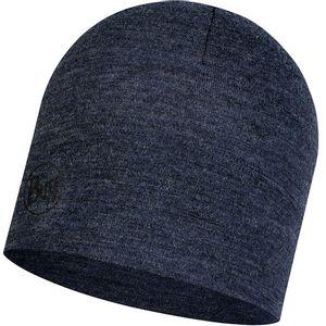 Buff Midweight Merino Wool Hat - Night Blue Melange