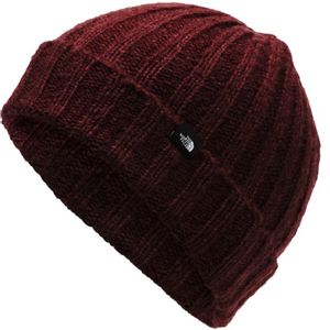 The North Face Unisex Chunky Rib Beanie - Deep Garnet