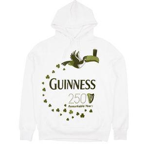 Guinness Long John Hoodie - White