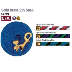 Weaver Poly Lead Rope with Solid Brass Snap - Q8