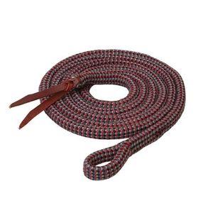 Weaver EcoLuxe Bamboo Lead 10' - Charcoal/Indigo/Dark Red/Black