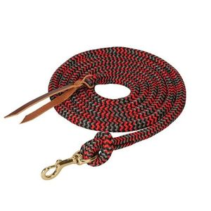 Weaver Poly Cowboy Lead 10' with Snap - Black/Red/Grey