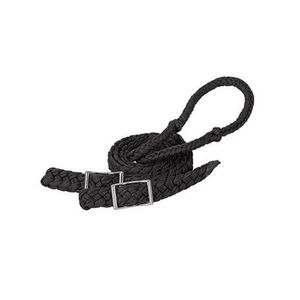 Weaver Braided Nylon Barrel Reins - Black