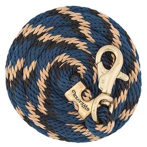 Weaver Poly Lead Rope with Brass Plated Bull Trigger Snap - B10