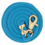Weaver-Poly-Lead-Rope-with-Brass-Plated-Bull-Trigger-Snap---Hurricane-136716