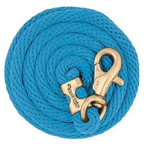 Weaver Poly Lead Rope with Brass Plated Bull Trigger Snap - Hurricane
