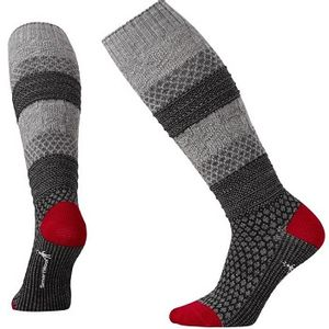 Smartwool Women's Popcorn Cable Knit Knee High Socks - Medium Grey