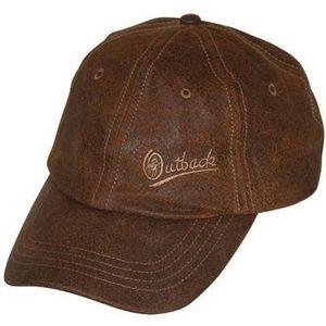 Outback Trading Leather Slugger Baseball Cap - Brown