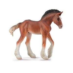 Breyer Corral Pals Bay Clydesdale Foal