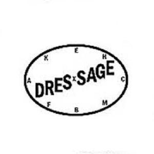 Dressage Logo Vinyl Decal