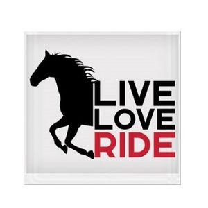 Live Love Ride Galloping Horse Vinyl Sticker