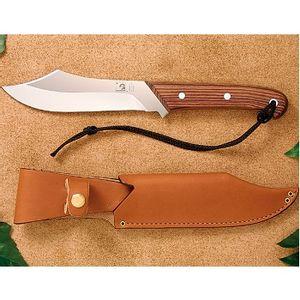 Grohmann Deer & Moose Knife with Open Sheath - Rosewood