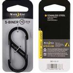 Nite-Ize--Dual-Carabiner-Stainless-Steel-S-Biner-Size--3---Black-150650