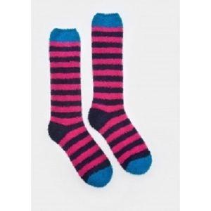 Joules Women's Fabulously Fluffy Socks - Ruby