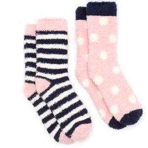 Joules Women's 2 Pair Pack Fabulously Short Fluffy Socks - Pink